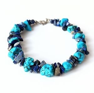 Jewelry - Turquoise And Blue Stone Bracelet